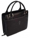 Croc Embossed Purse Bible Cover, Black, Large
