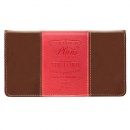 For I Know the Plans Checkbook Cover, Brown and Pink