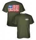 Duck Commander American Flag Shirt: Moss | 3X-Large