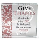 Give Thanks Glass Paper Weight