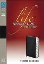 NIV Life Application Study Bible: Thumb-Indexed | Leather | Black